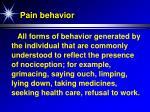 pain behavior