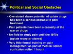 political and social obstacles