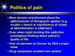 politics of pain