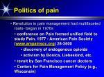 politics of pain61