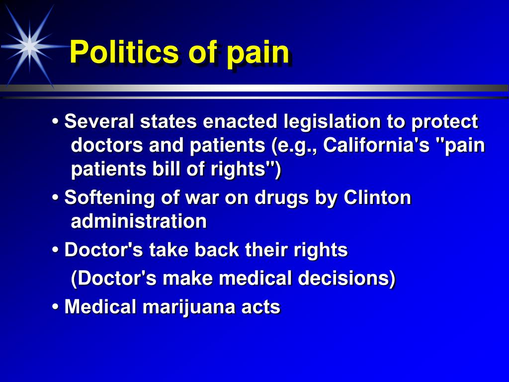 Politics of pain