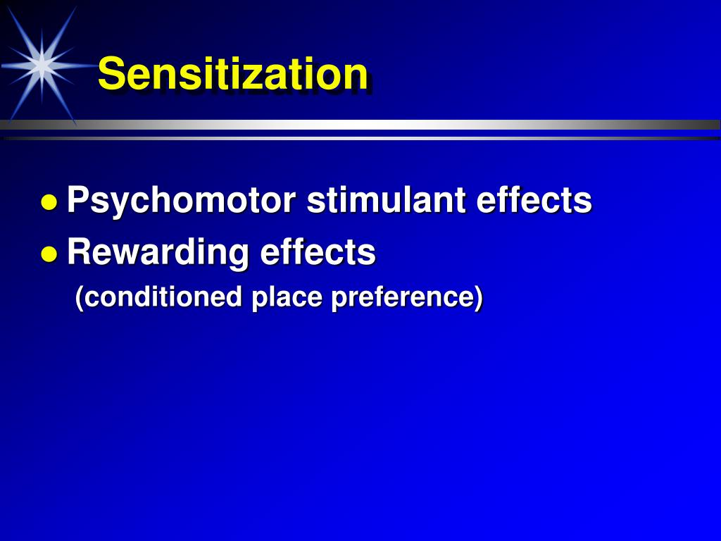 Sensitization