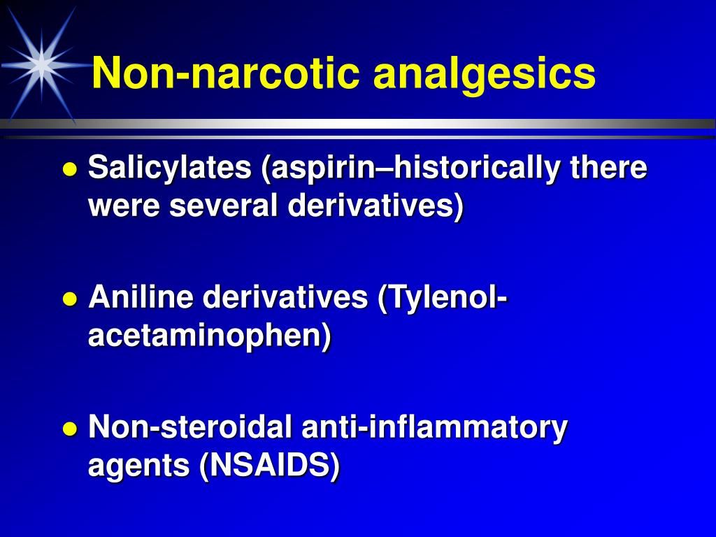 Non-narcotic analgesics