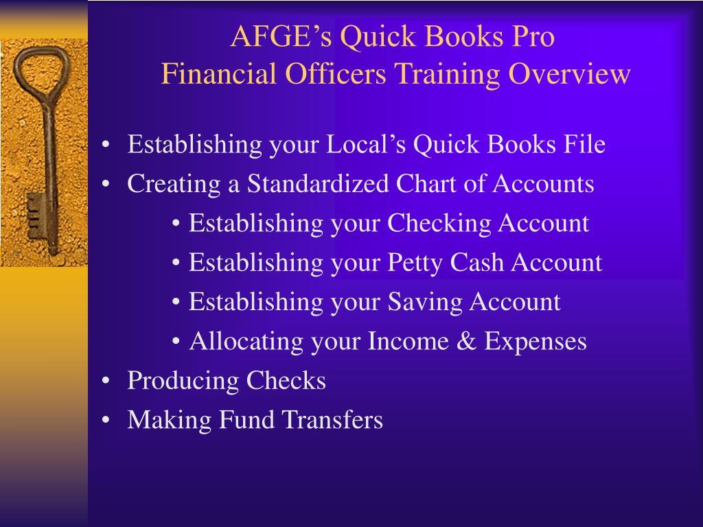 AFGE's Quick Books Pro