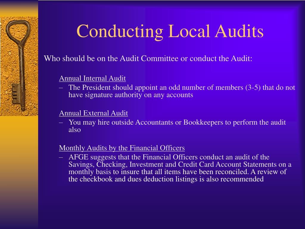 Conducting Local Audits