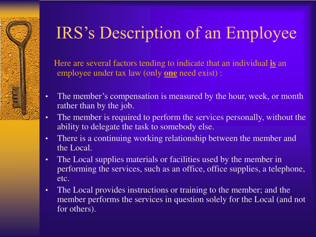 IRS's Description of an Employee