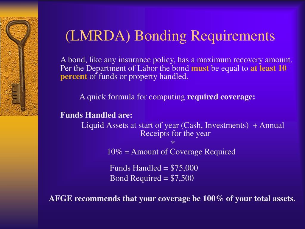 (LMRDA) Bonding Requirements