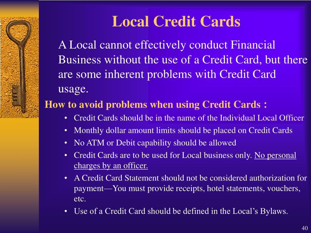Local Credit Cards