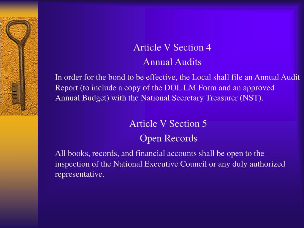 Article V Section 4