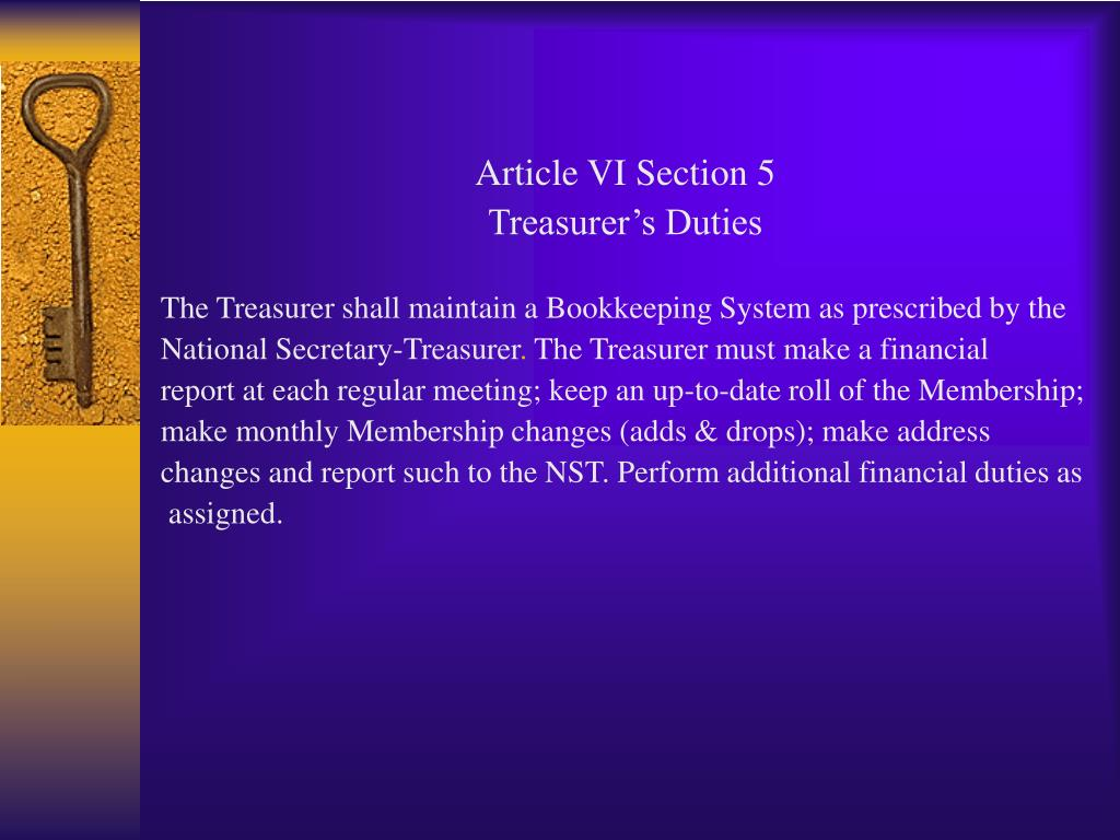 Article VI Section 5