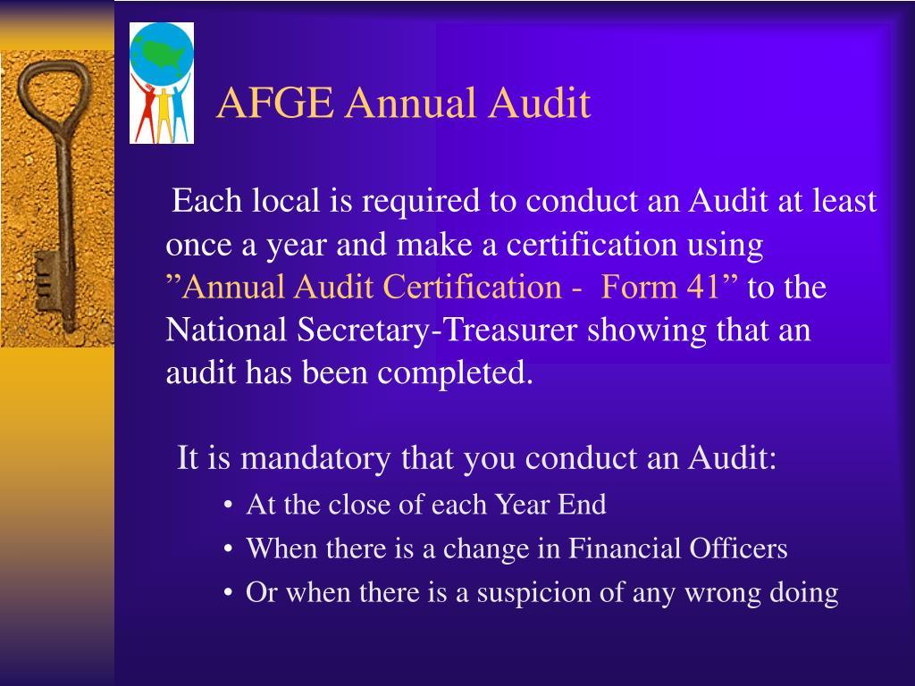 AFGE Annual Audit