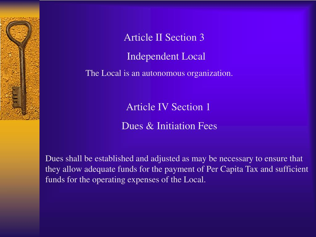 Article II Section 3