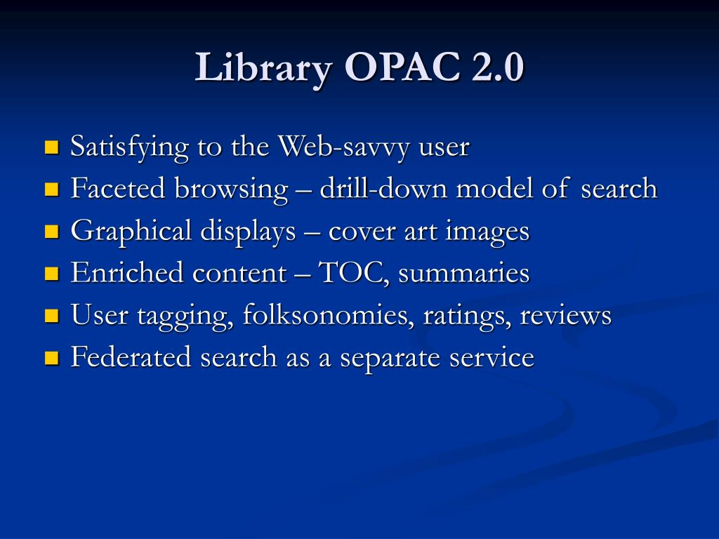 Library OPAC 2.0