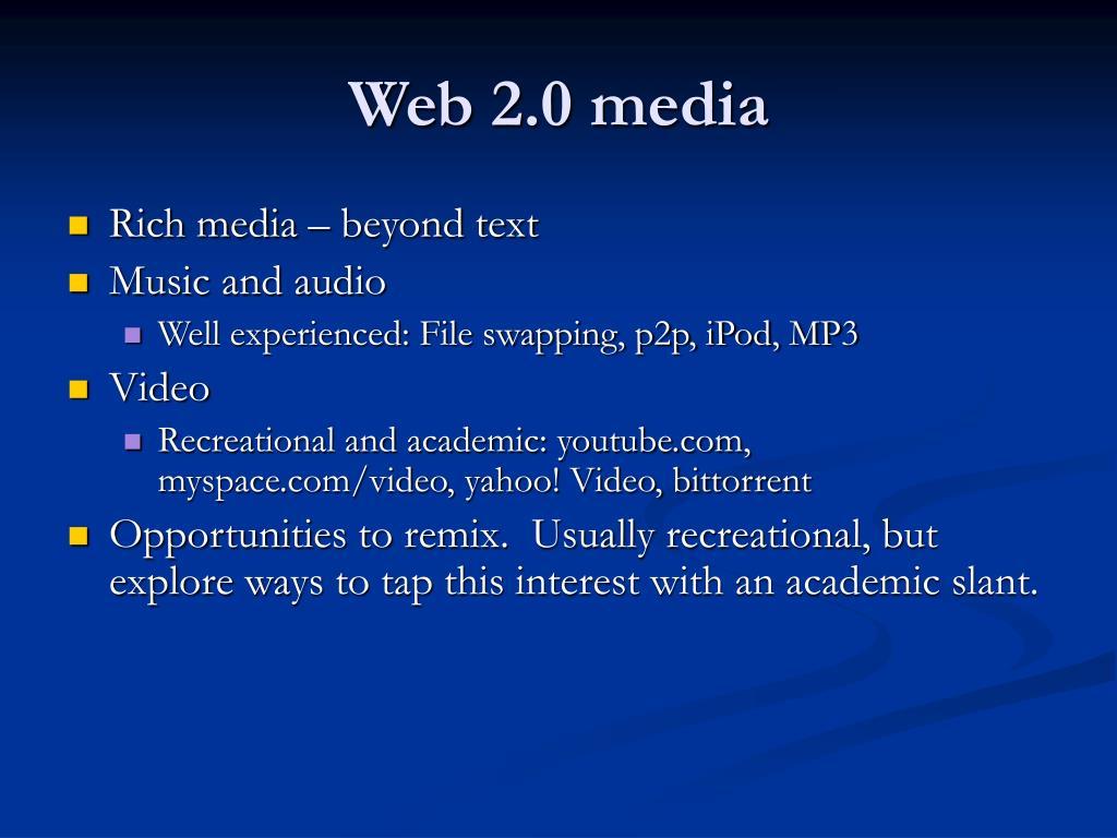 Web 2.0 media