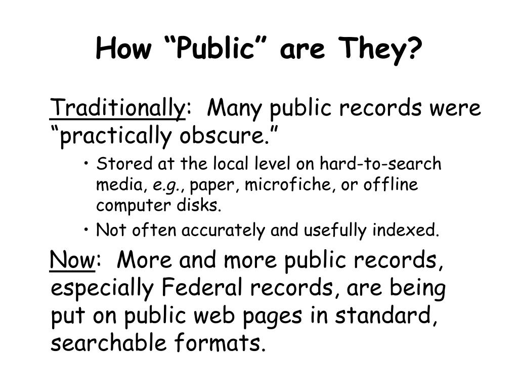 "How ""Public"" are They?"