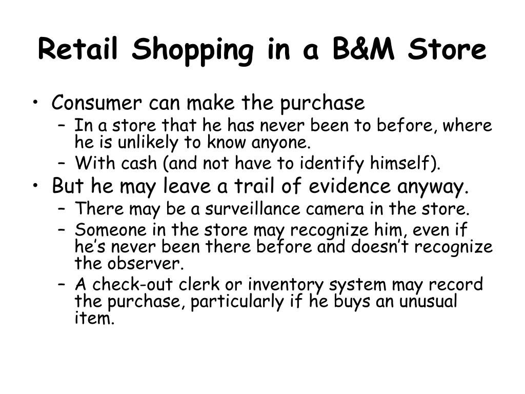Retail Shopping in a B&M Store