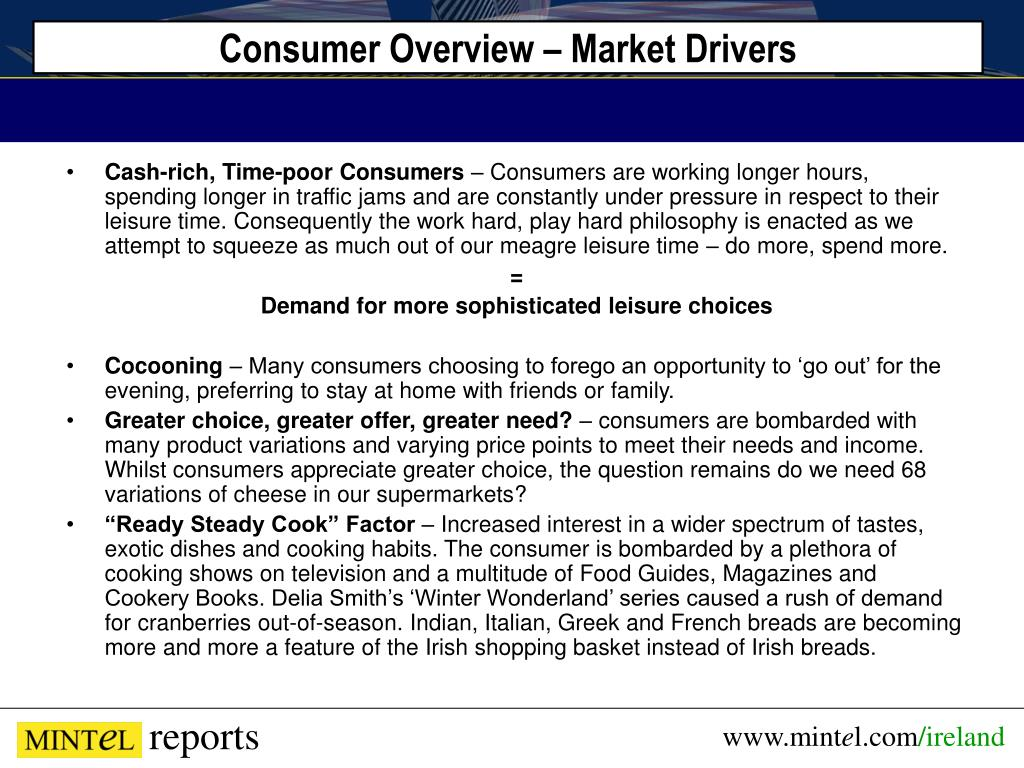 Consumer Overview – Market Drivers