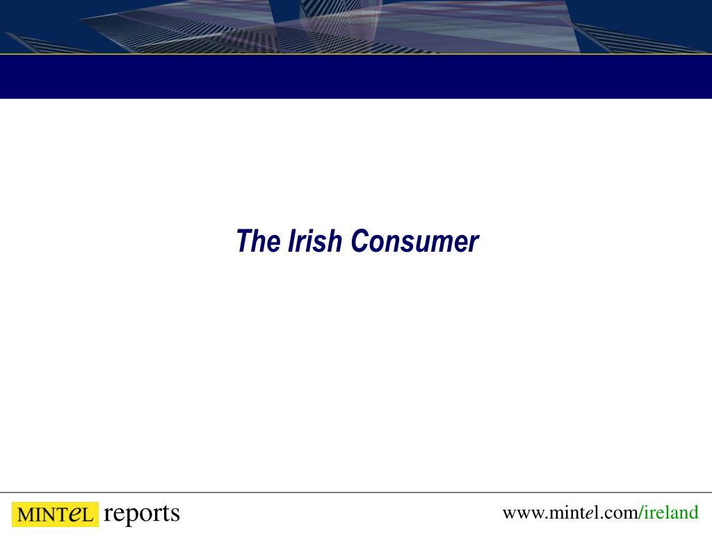 The Irish Consumer