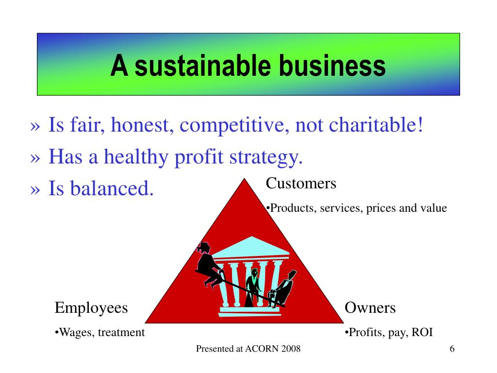A sustainable business