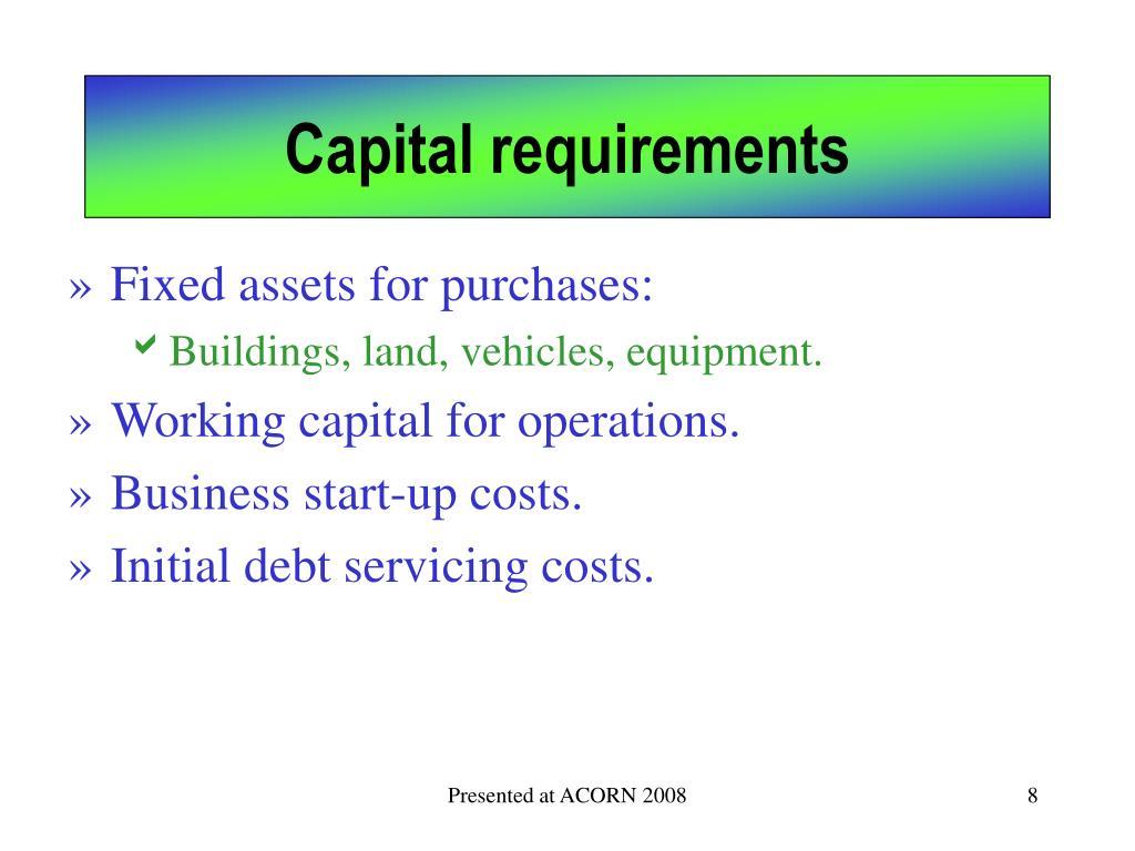 Capital requirements