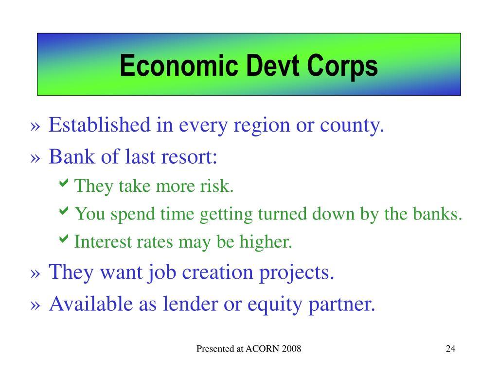 Economic Devt Corps