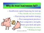 why do most businesses fail