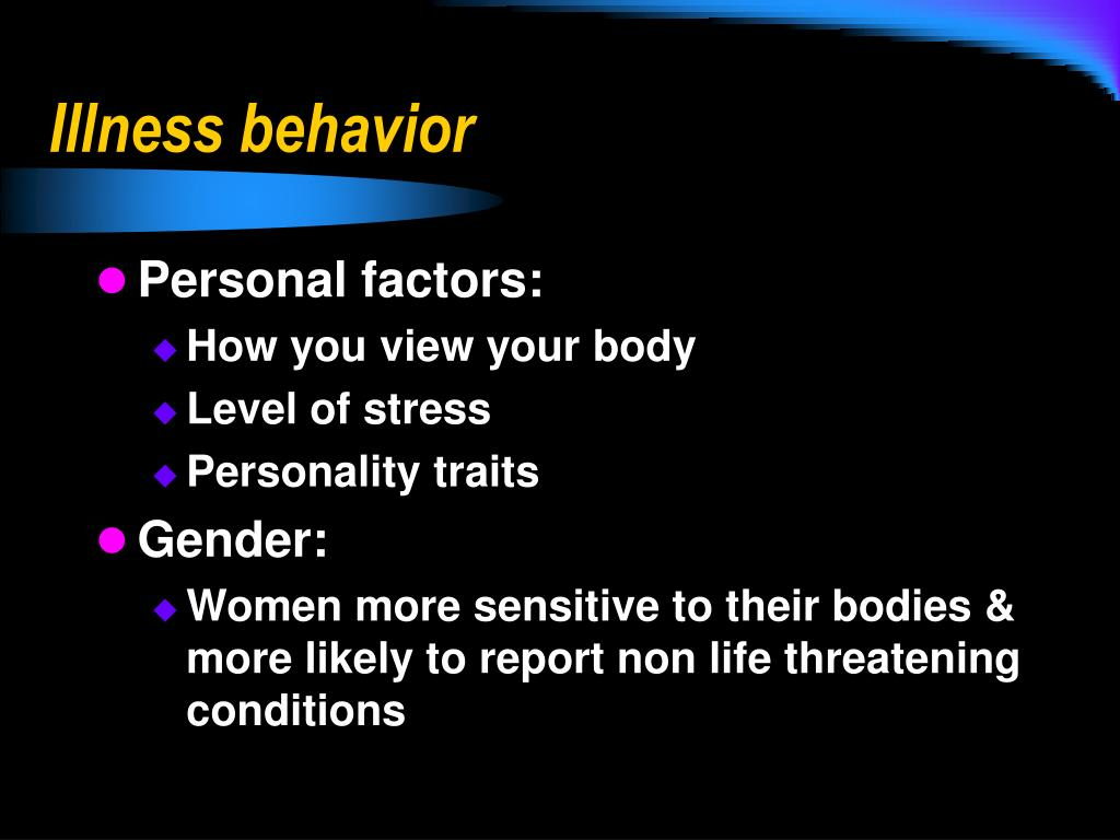 Illness behavior
