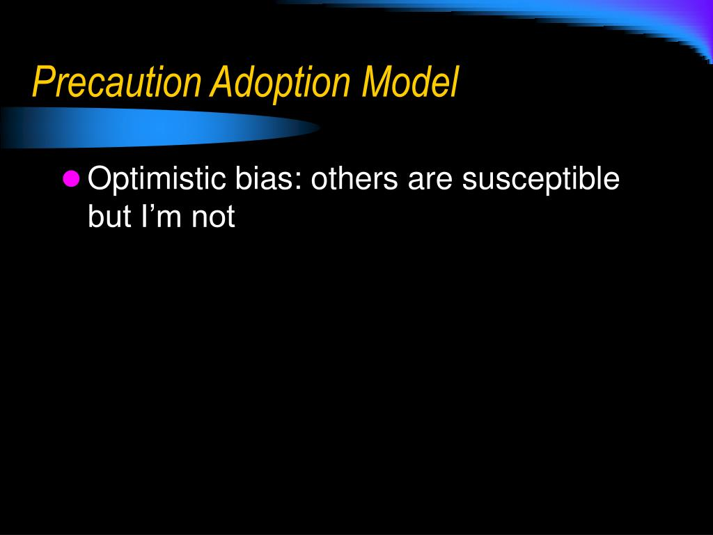 Precaution Adoption Model