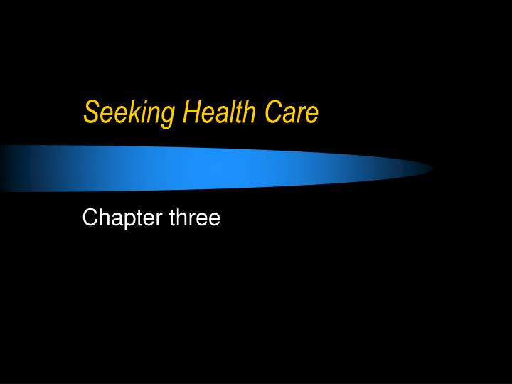 Seeking health care