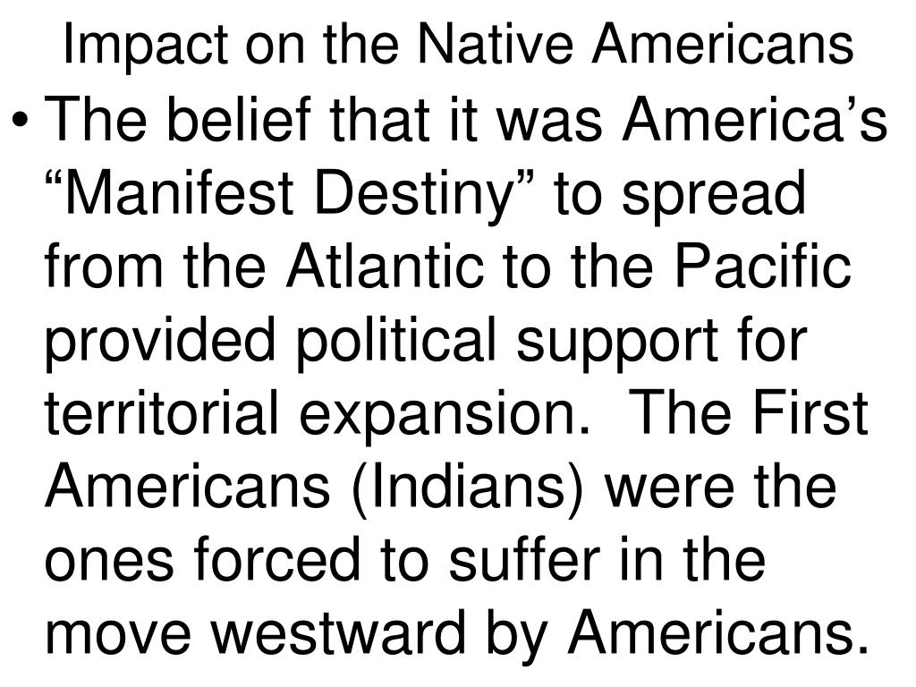 Impact on the Native Americans
