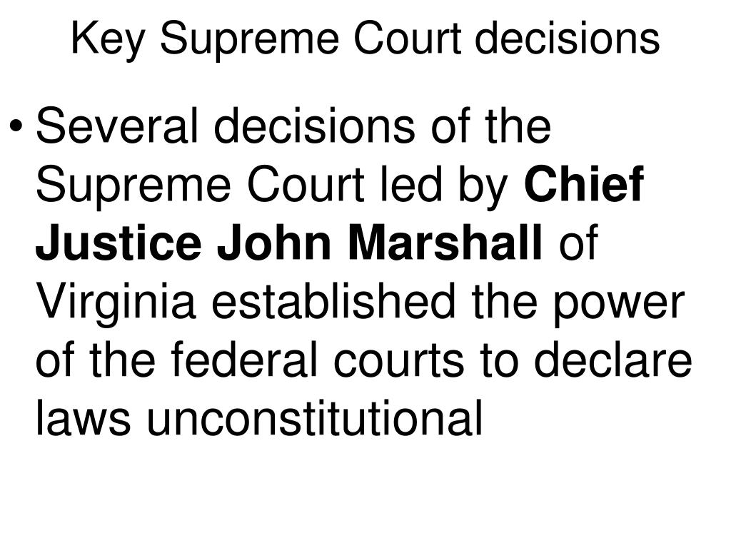 Key Supreme Court decisions