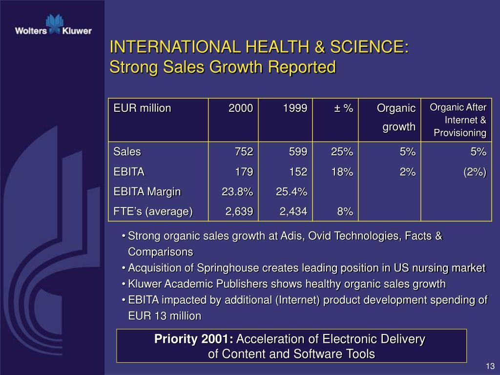 INTERNATIONAL HEALTH & SCIENCE: