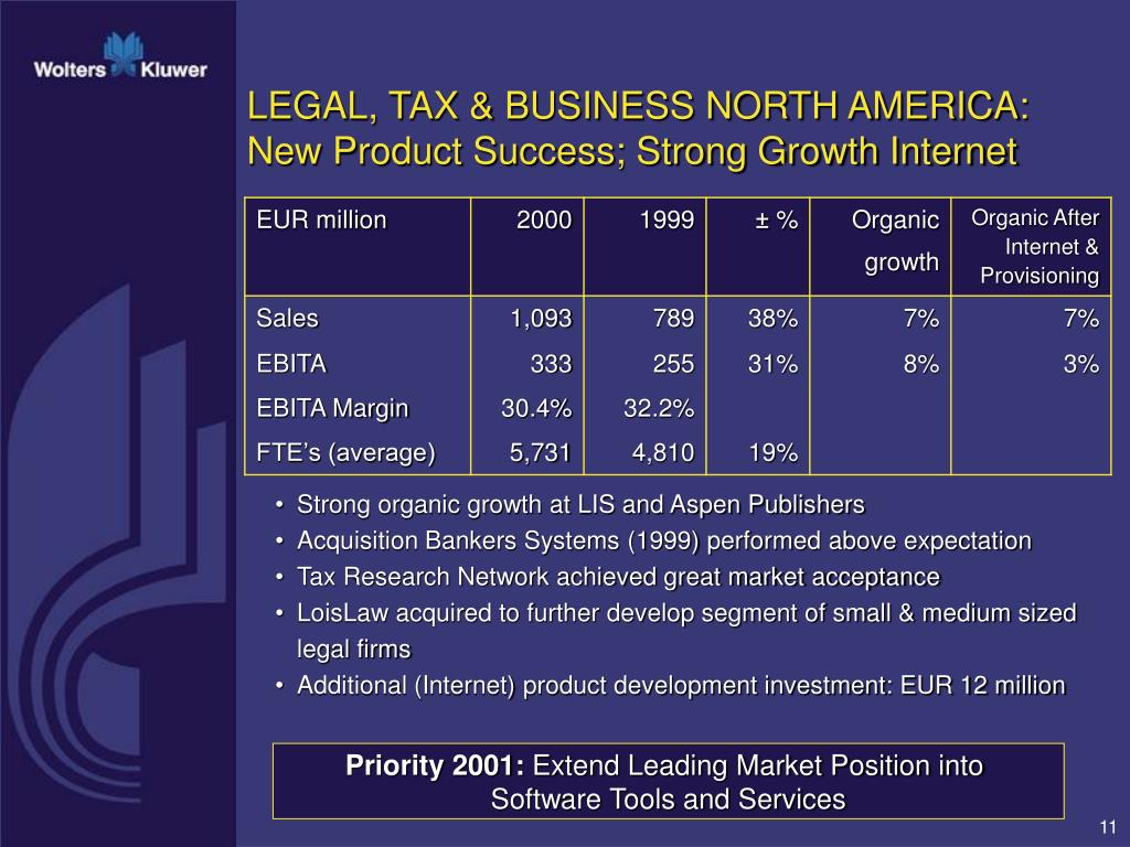 LEGAL, TAX & BUSINESS NORTH AMERICA: