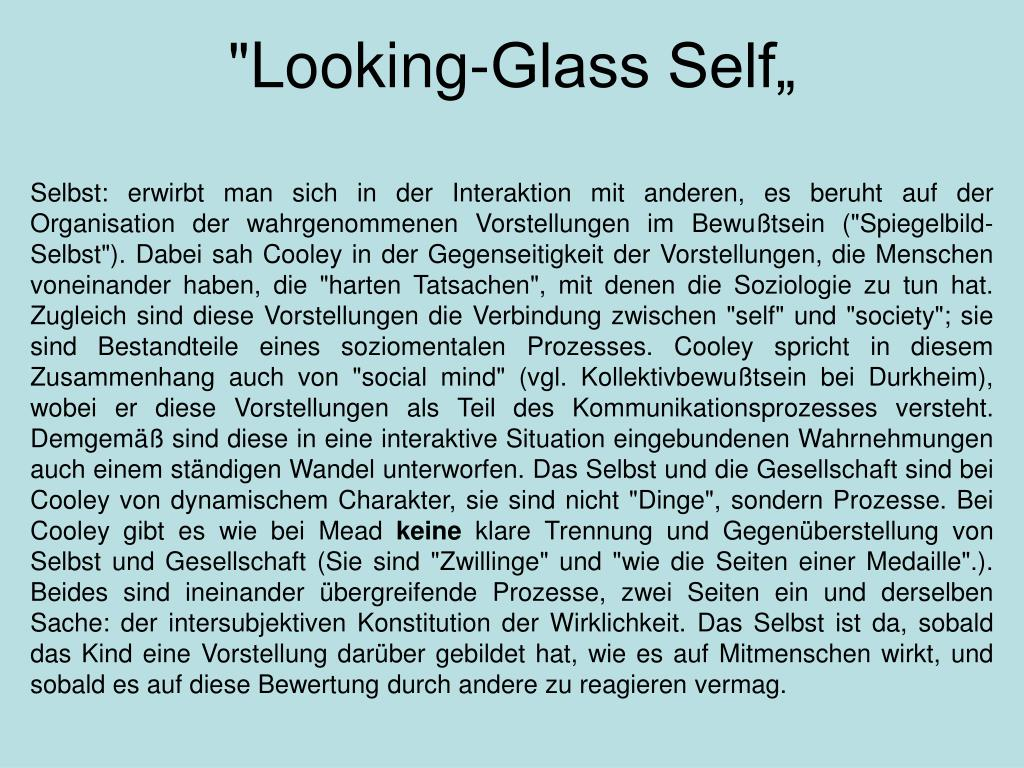 """Looking-Glass Self"""