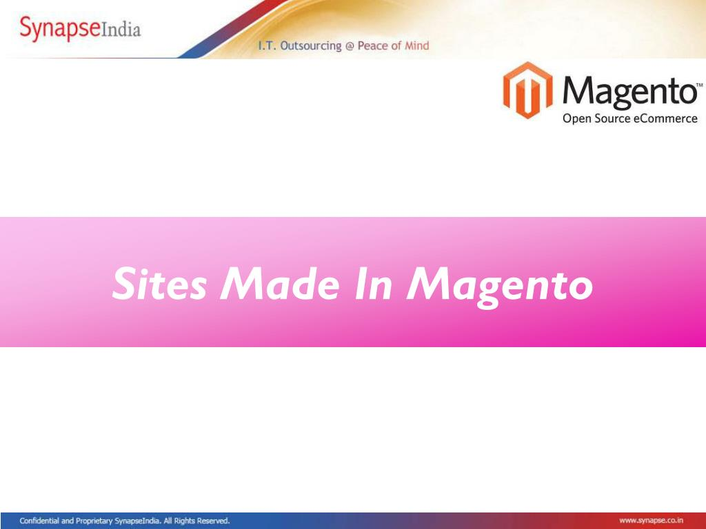 Sites Made In Magento