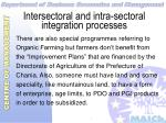 intersectoral and intra sectoral integration processes32