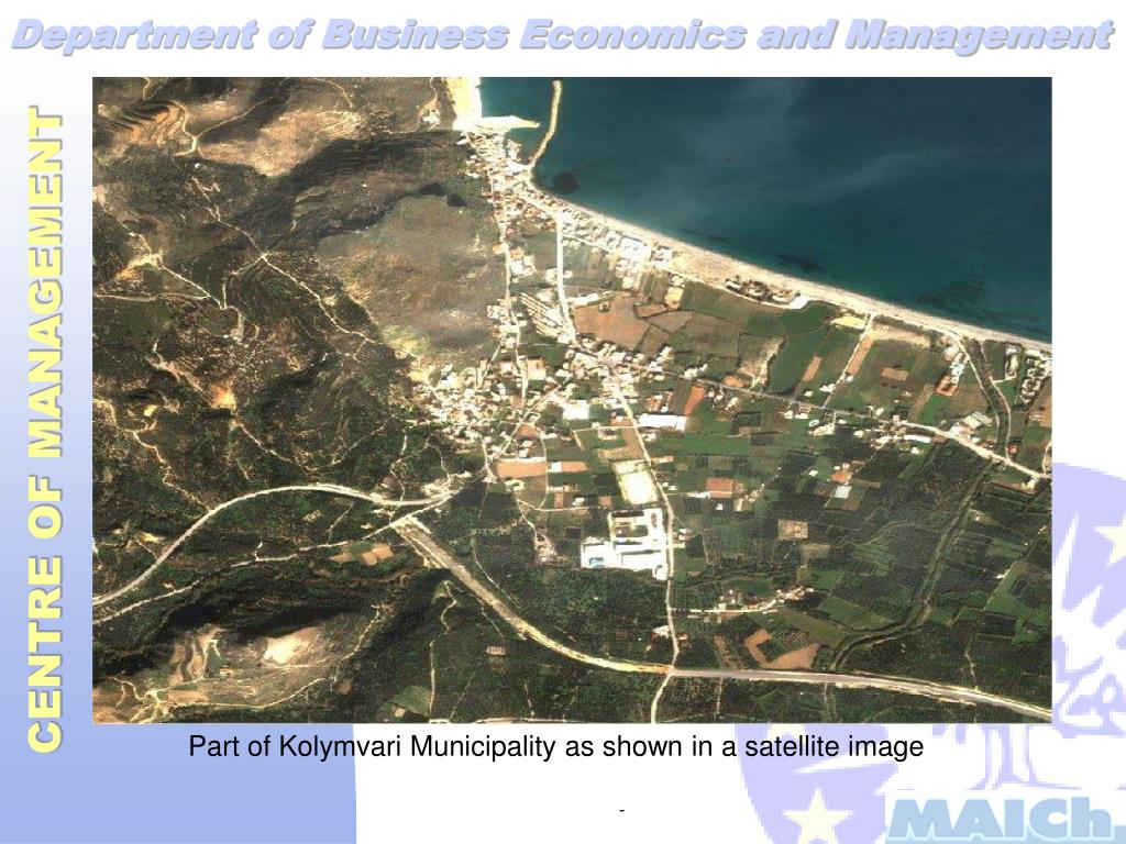 Part of Kolymvari Municipality as shown in a satellite image