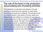 the role of the farms in the production accumulating and innovating activities18