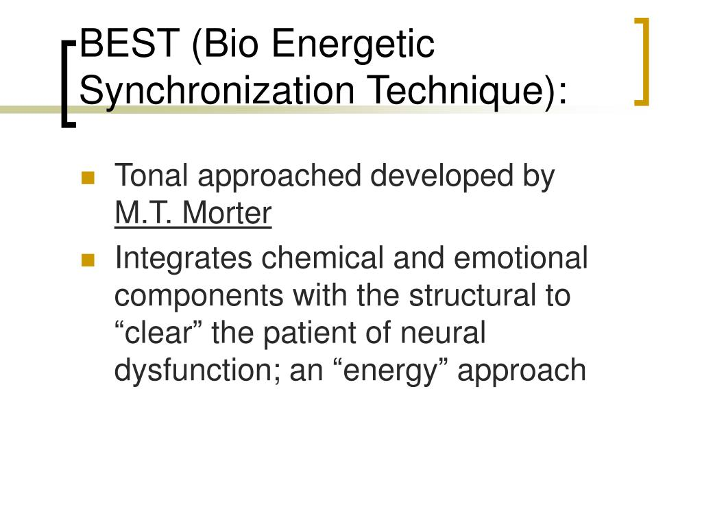 BEST (Bio Energetic Synchronization Technique):