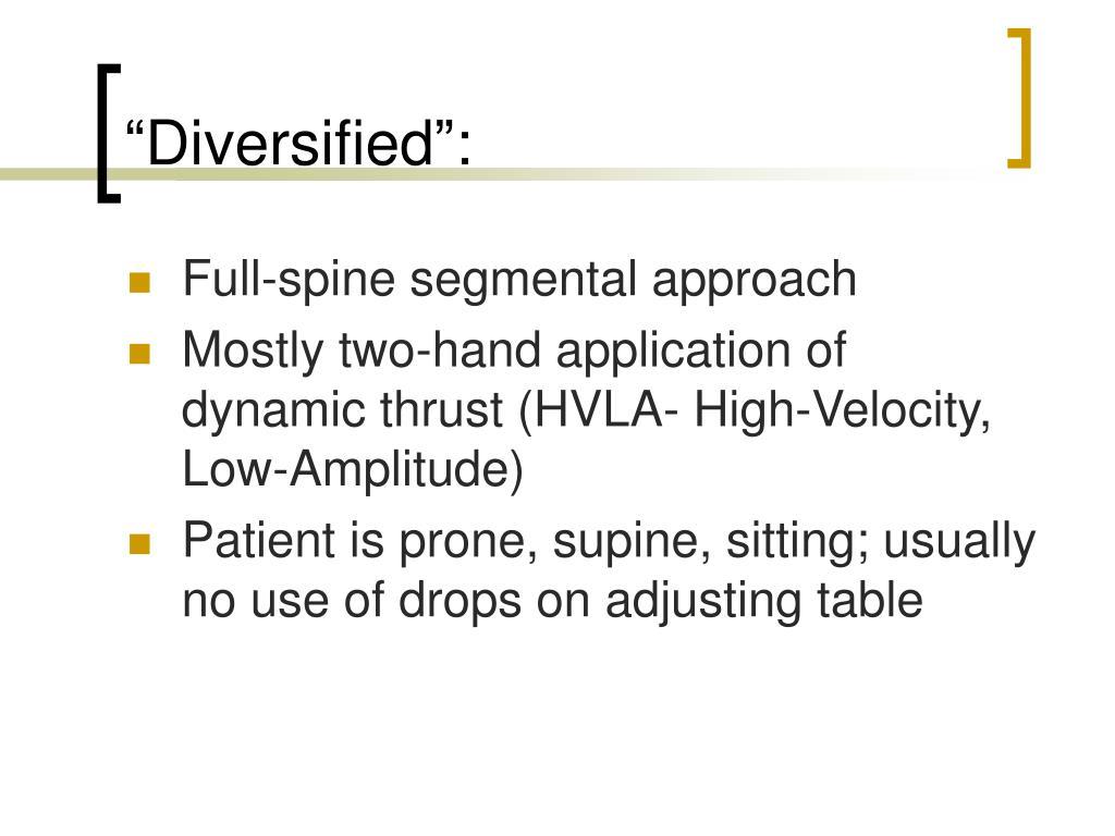 """Diversified"":"