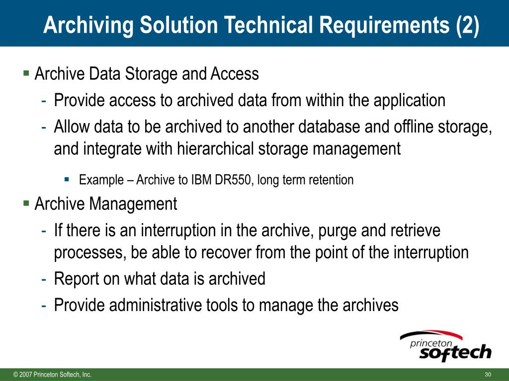 Archiving Solution Technical Requirements (2)