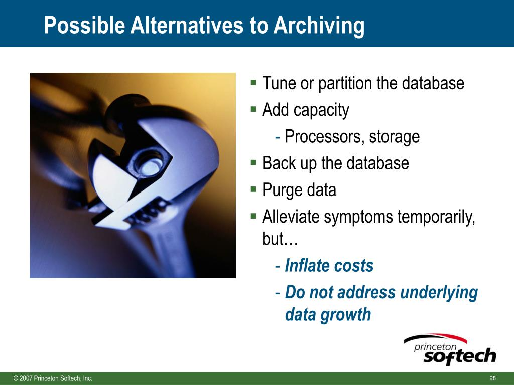 Possible Alternatives to Archiving