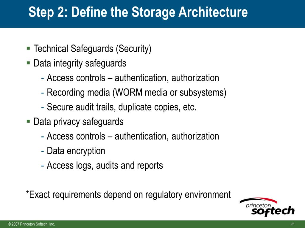 Step 2: Define the Storage Architecture
