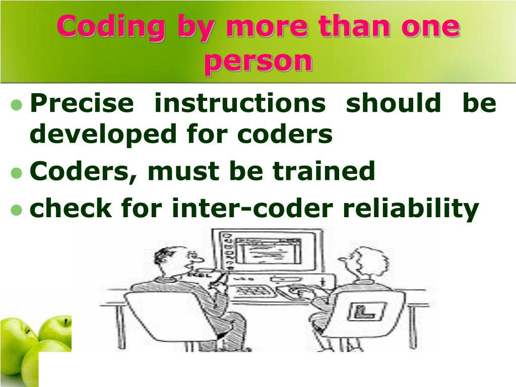 Coding by more than one person