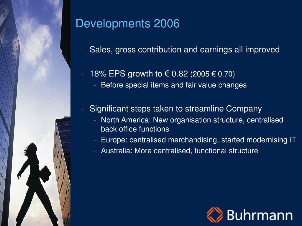 Developments 2006