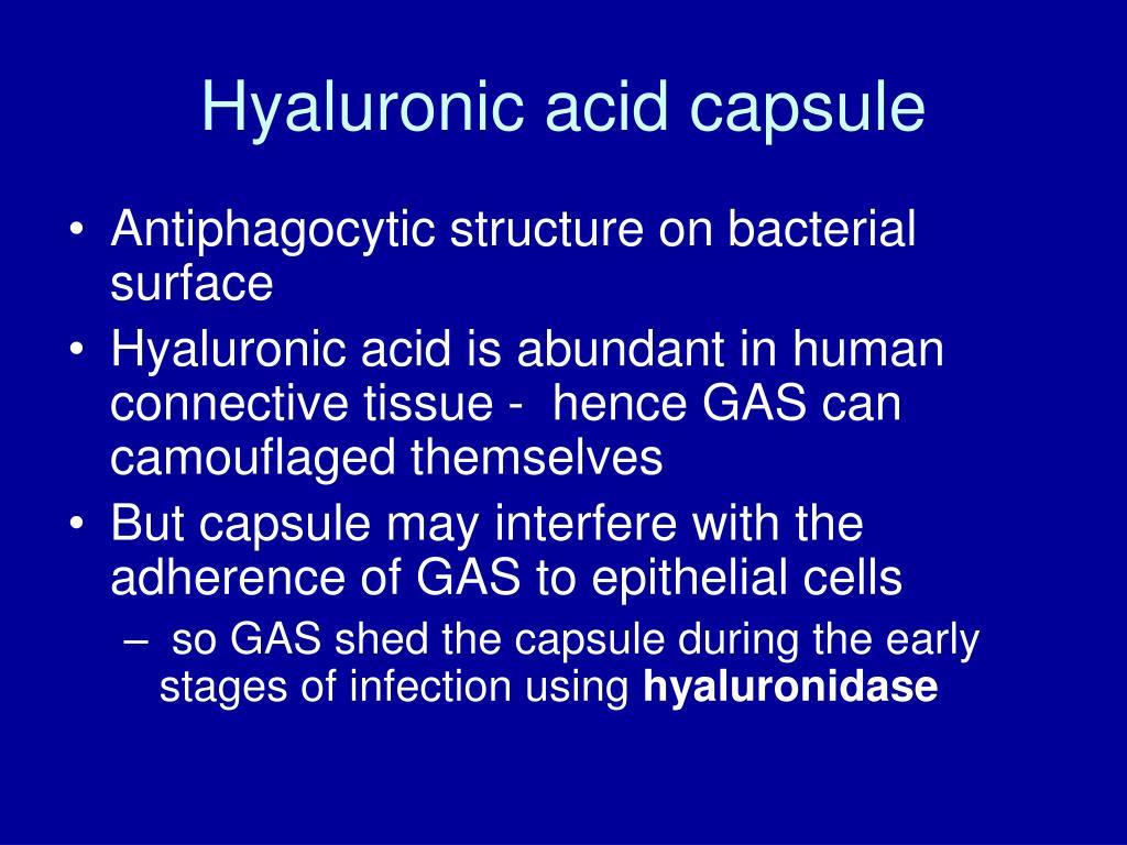 Hyaluronic acid capsule