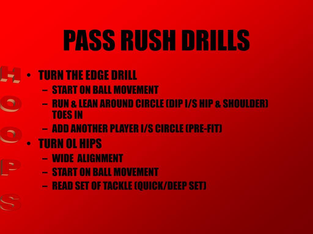 PASS RUSH DRILLS