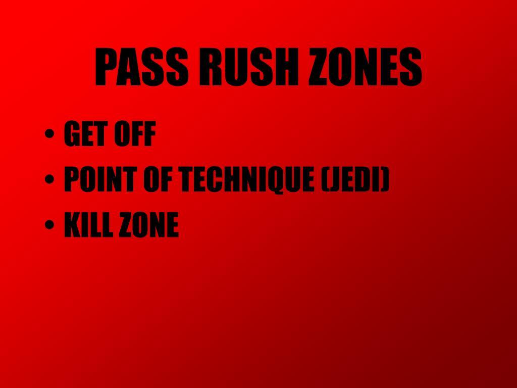 PASS RUSH ZONES