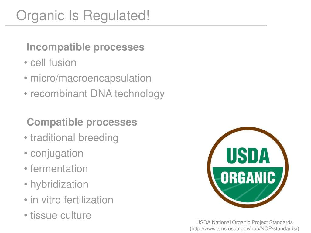 Organic Is Regulated!