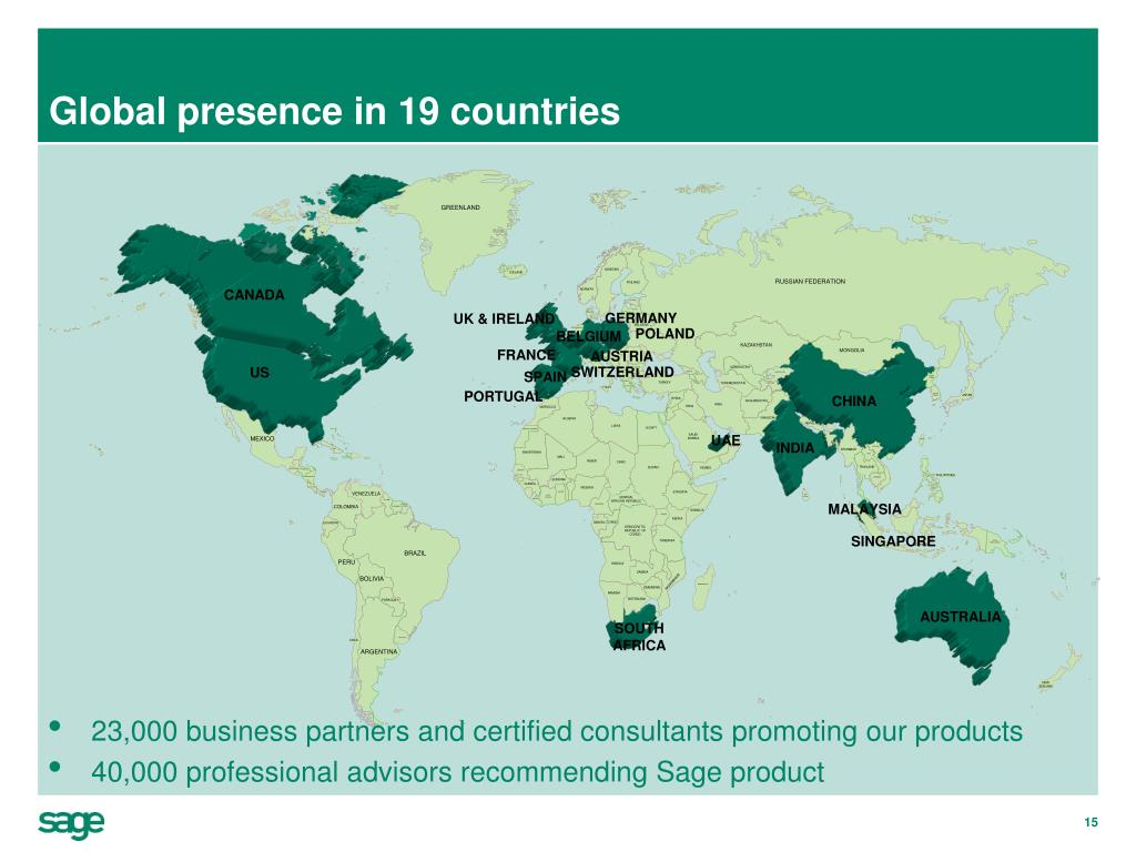 Global presence in 19 countries